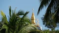 Mount Phou Si in Luang Prabang Stock Footage