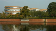 The Berlin Snake, housing for members of parliament Stock Footage