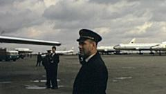 Khabarovsk 1964: view of the airport Stock Footage