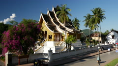 Royal Palace Museum Luang Prabang Stock Footage