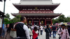 Tourists at Sensoji Temple  -  Tokyo Japan Stock Footage