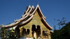 The Haw Pha Bang Royal Temple in Luang Prabang Stock Footage