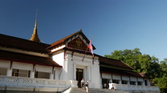 Royal Palace in Luang Prabang Stock Footage