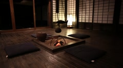 Japanese Old Style house Stock Footage