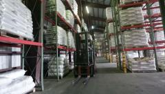 Forklift rides in stock - stock footage