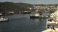USSR 1964: ship at the port in the eastern part of the Country Stock Footage