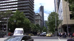 Melbourne Australia Busy Road Stock Footage