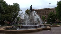 Fountain in Hobart Stock Footage