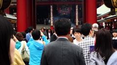 Time Lapse of People at Sensoji Temple  -  Tokyo Japan Stock Footage
