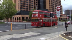 Red Double Decker Bus Stock Footage