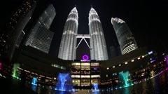 Petronas Tower,Kuala Lumpur Stock Footage