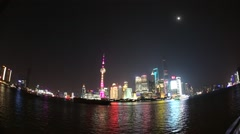 City of Shanghai from Bund Stock Footage