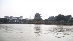 Zhujiajiao Water Town, Shanghai China Stock Footage