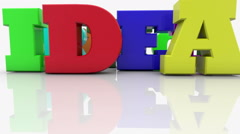 Colorful mixed different letters with word IDEA Stock Footage