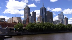 Melbourne Cityscape Stock Footage