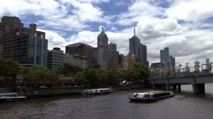 Melbourne Main River Stock Footage