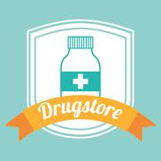 Drugstore bottle design, vector illustration eps10 graphic Stock Illustration
