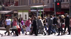 Stock Video Footage of Melbourne City Life