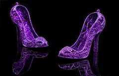 glitter high heels - stock photo