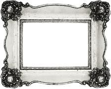 Vintage frame isolated on white Stock Photos