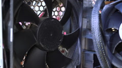 PC cooling fan on - Stock Video Stock Footage