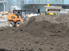 Earthwork in the summer. Related clips are in my portfolio in 1920x1080. - stock footage