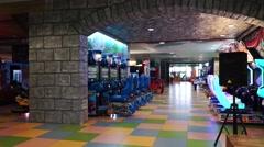 Inside the amusement park Stock Footage