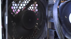 PC cooling fan off - Stock Video - stock footage