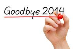 Goodbye 2014 Stock Illustration