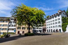switzerland, zurich, munster square - stock photo