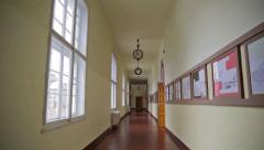 School corridor Stock Footage