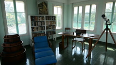 Interior of the historical home of writer Ernest Hemingway in Havana Cuba Stock Footage