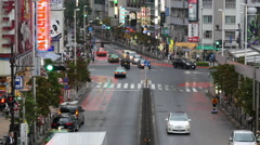 Time Lapse - Traffic on Busy Boulevard after Rain Storm - Tokyo Japan Stock Footage
