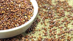 Rotating red quinoa (loopable) Stock Footage