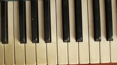 Close up view of piano keys Stock Footage