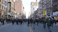 4K New York City Police Protesters Stock Footage