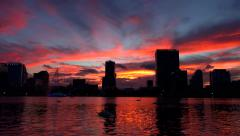 Downtown Orlando Sunset Time-Lapse - stock footage