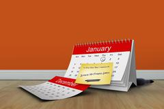 Composite image of new years resolutions - stock illustration