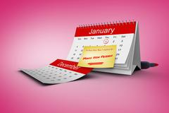 Stock Illustration of Composite image of new years resolutions