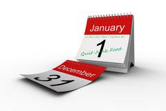 Stock Illustration of Composite image of in this new year i resolve to