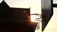 Kathmandu Nepal children's home basketball hoop in Eastern Kathmandu Stock Footage