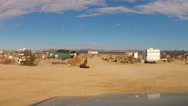 Stock Video Footage of RV Campers At Slab City In California Desert- Niland CA