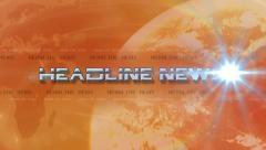 Headline News 4K Animation - Lens Flare Reveals Text - Orange Stock Footage