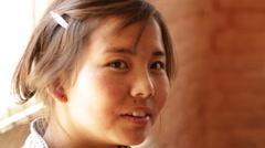 Kathmandu Nepal Student sits in baking class in Eastern Kathmandu, Nepal Stock Footage