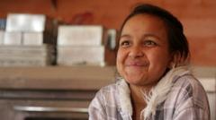 Kathmandu Nepal Student sits in baking class and smiles in Eastern Kathmandu, Stock Footage