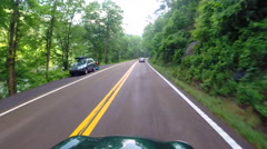 Driving through Copperhill Tennessee hills and woods Stock Footage