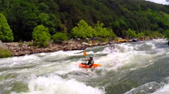 Whitewater kayaking on the Ocoee River in Ducktown Tennessee USA Stock Footage