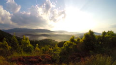 Boyd Gap Brush Creek Overlook of the Great Smoky Mountains in Tennessee - stock footage