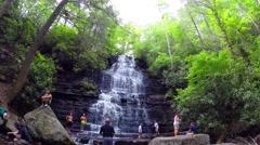 Scenic view of Benton Falls near Ocoee Tennessee, USA Stock Footage
