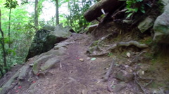 Hiking the Benton Falls Trail in Ocoee, Tennessee USA Stock Footage